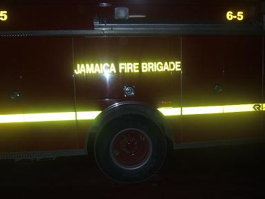 Picture of Jamaican fire truck