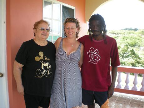 Alice, me and Ted at their home in Negril