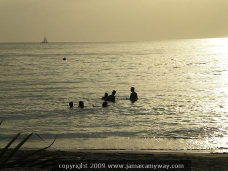 Picture of Jamaican Youth swimming