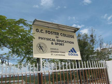 GC Foster College sign