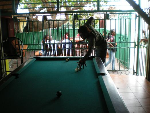 Playing pool in Montego Bay