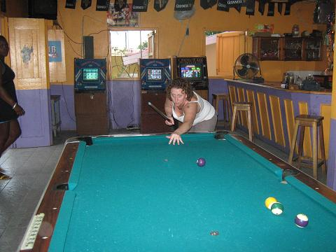 Playing Pool in Jamaica
