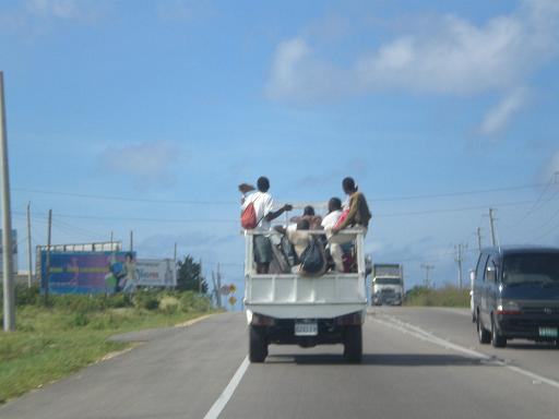 Riding in Trucks in Jamaica