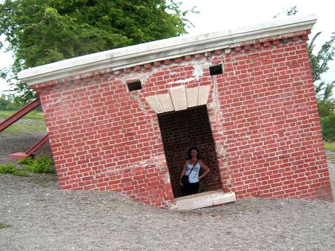Me standing inside Giddy House