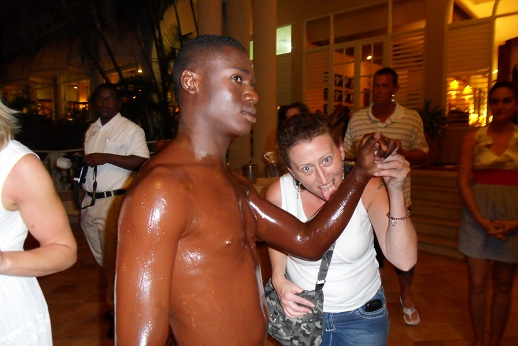 chocolate covered man in jamaica