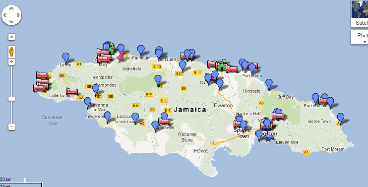 Jamaica My Way google map