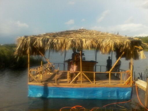jamaican bar in the water